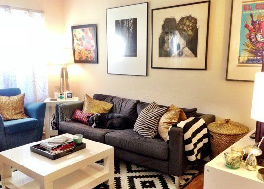 """LOVE this room! The """"Blank & Boring to Cheery & Comfortable"""" Living Room Makeover — Makeover   Apartment Therapy"""
