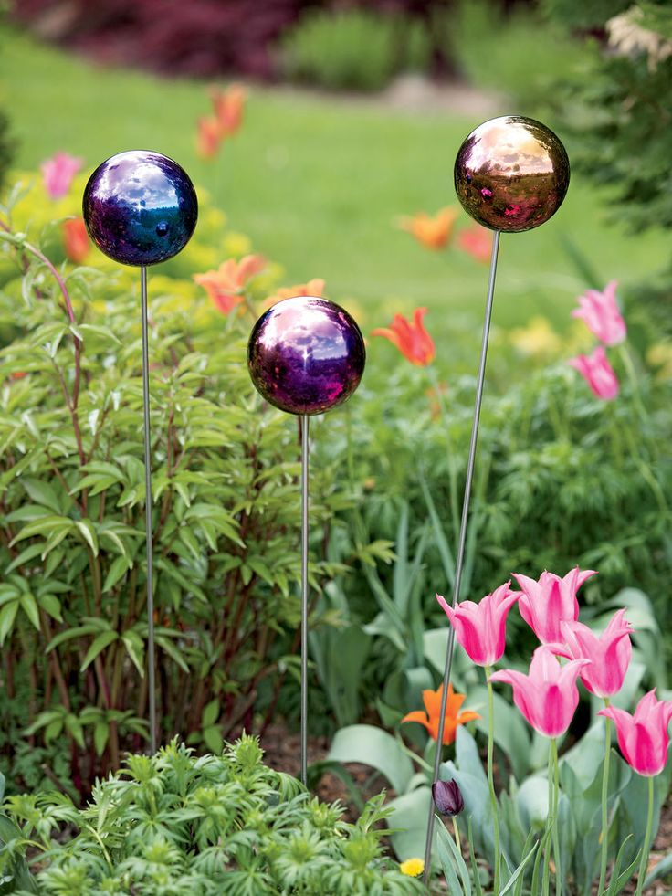 Gazing Ball Stake, Single | Garden Art