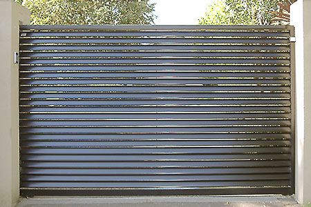 Louvered Steel Gates And Fence Gates Amp Doors Pinterest