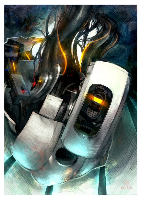 GLaDOS Portal Poster A3. AHHHHHHHHHHHHHHHHHHHHHHHH WANT.