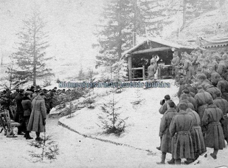 Karácsonyi mise az olasz fronton - I. világháború