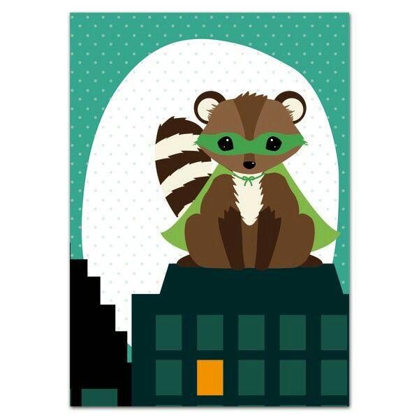 Postcard Superhero Oktoberdots ● Troetel.com