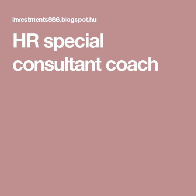 HR special consultant coach
