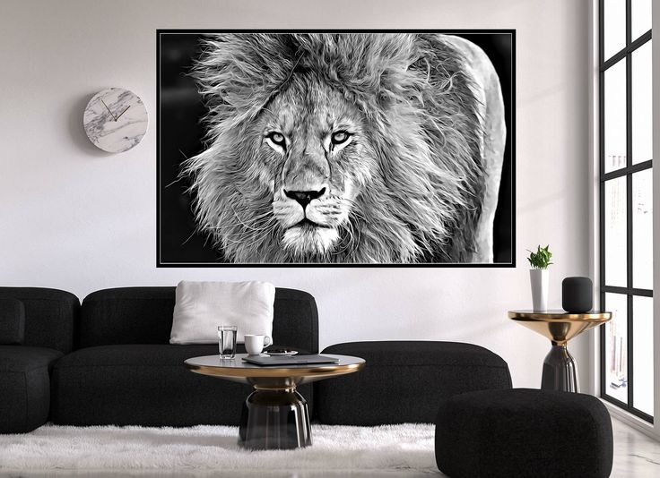 Charmant Excited To Share The Latest Addition To My #etsy Shop: Lion Wall Art