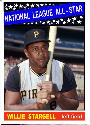 1966 Topps Willie Stargell All Star, Pittsburgh Pirates, Baseball Cards That Never Were.