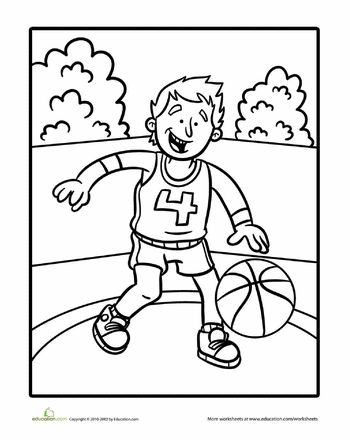 basketball player coloring pages - photo#41