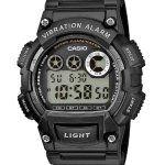 Casio Montre Homme W-735H-1AVEF: Montre pour Homme à mouvement Quartz - Bracelet en Résine Noir Type d'affichage : Digital Type de verre :…