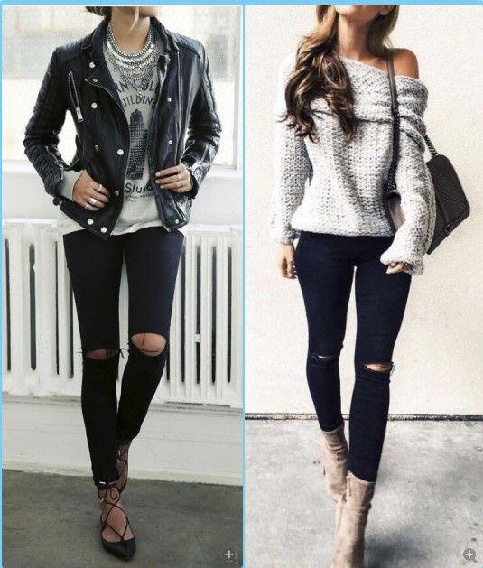 077e3de36cc 2104 Новый Мода 2017 г. хлопок джинсовые штаны стрейч женские рваные обтягивающие  джинсы черные ботильоны