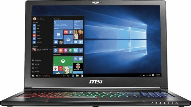 "MSI - GS Series Stealth Pro 15.6"" Laptop - Intel Core i7 - 16GB Memory - NVIDIA GeForce GTX 1060 - 1TB HDD + 256GB SSD - Aluminum black - Front Zoom"
