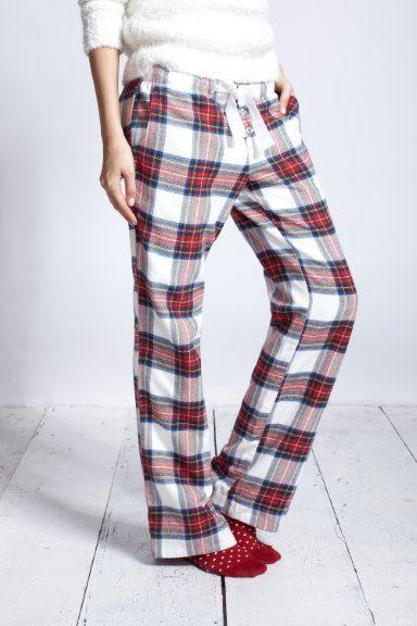 Cosy tartan pyjama bottoms- jack wills, fat face etc