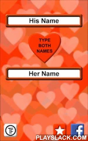 Love Test Names  Android App - playslack.com ,  Find your perfect match. Test your names for love. What will be your future? Love test calculator for you and your friends. This calculator is using ancient numerology formula. It will tell you how much chances you have with chosen person.All you have to do is to write yours and other person's name. Vind uw perfecte match. Test uw namen voor de liefde.Wat zal uw toekomst? Liefde testen calculator voor jou en je vrienden.Deze rekenmachine wordt…