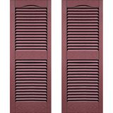 Mitten Fourteen inch Louvered Vinyl Shutters