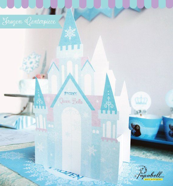 Frozen Centerpiece Printable For Frozen Birthday Diy Etsy Frozen Birthday Frozen Centerpieces Frozen Invitations