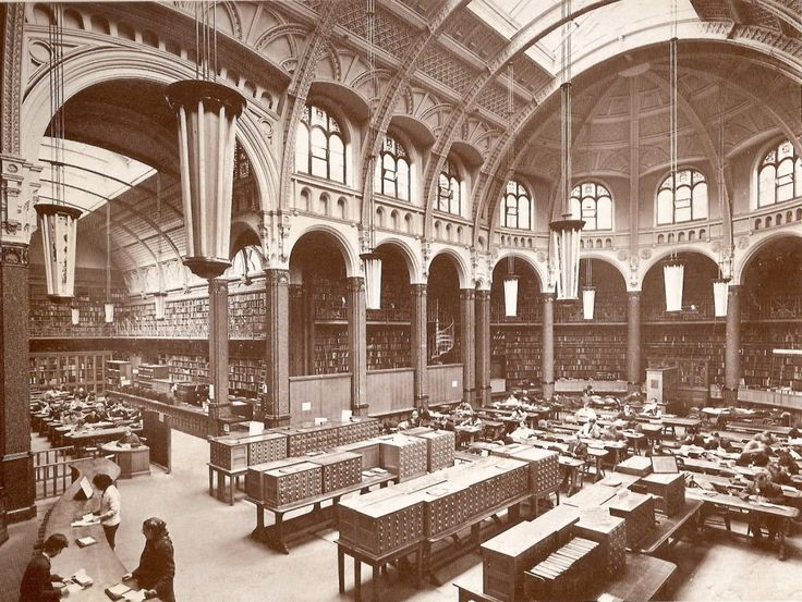 Birmingham Library - the original Victorian red-brick.