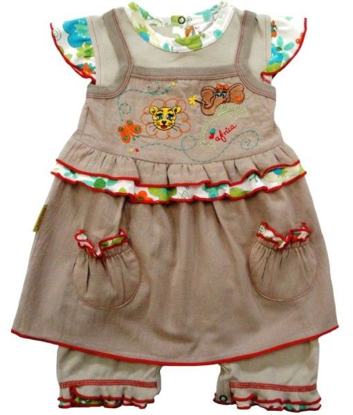 Fair trade bloomer set with embroidery.  Made from Cotton.  Available in sizes 3-6 months, 6-12 months, 12-18 months and 18-24 months.