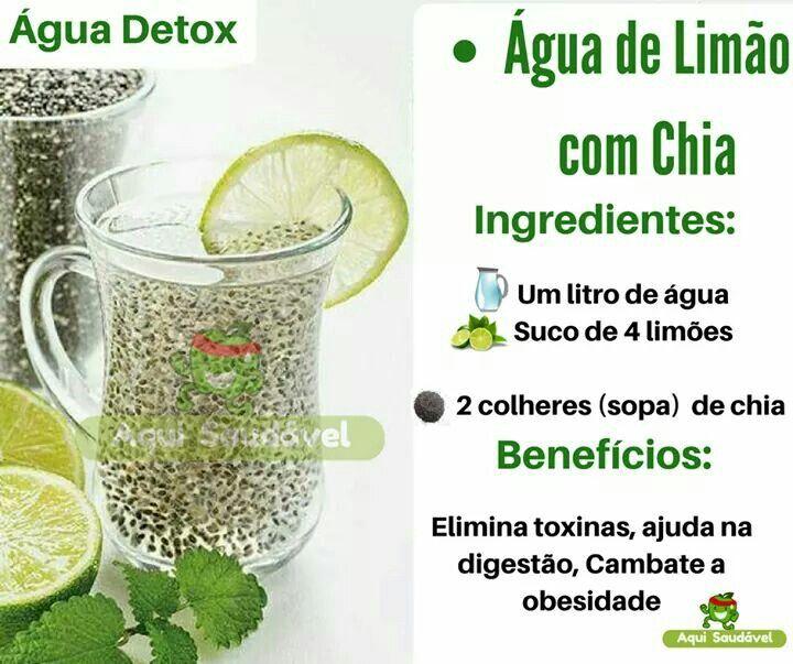 Água de Limão com Chia