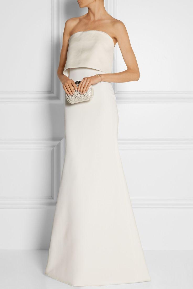 Victoria Beckham|Silk and wool-blend gown|NET-A-PORTER.COM