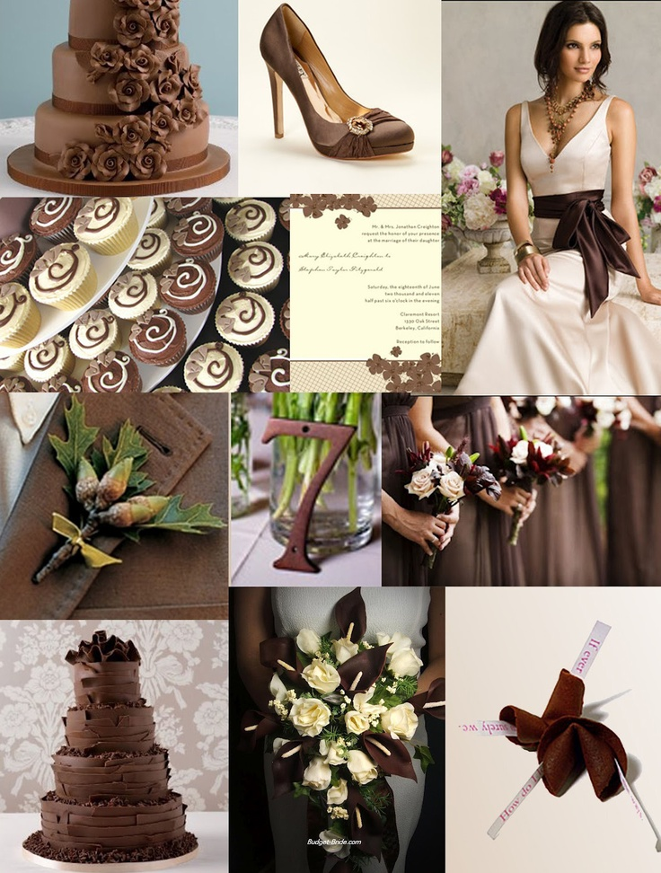 158 best Brown Wedding Inspiration images on Pinterest