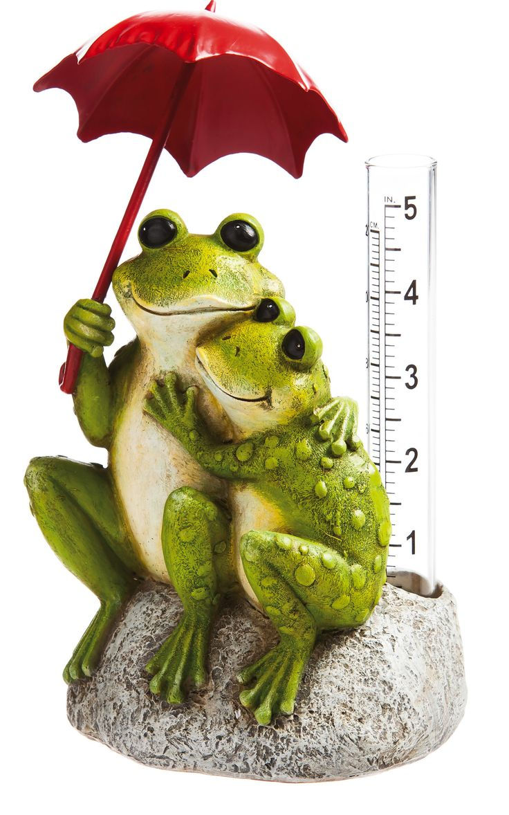"""Features:  -Croak about it.  Product Type: -Statue.  Color: -Green; Red.  Style: -Contemporary.  Material: -Resin/Plastic/Stone.  Theme: -Animal. Dimensions:  Overall Height - Top to Bottom: -7"""".  Ove"""