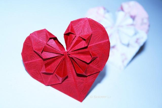 origami heart ♥♥♥♥ ❤ ❥❤ ❥❤ ❥♥♥♥♥