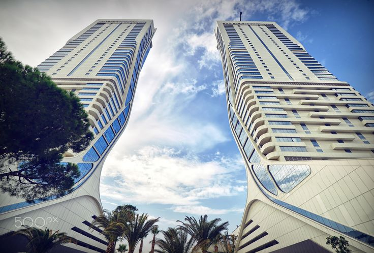 """twin towers - the new twin towers by"""" folkart""""in izmir."""