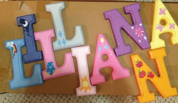 Hey, I found this really awesome Etsy listing at https://www.etsy.com/listing/159834680/my-little-pony-wooden-letters