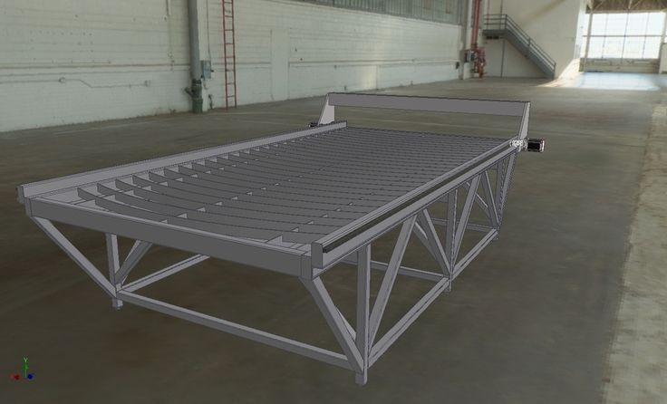 cnc plasma cutting machine. Part 1 - Table. - STEP / IGES - 3D CAD model - GrabCAD