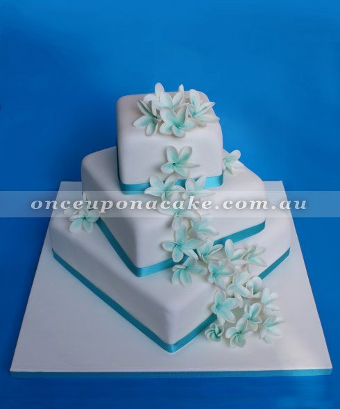 Frangipani Wedding Cake This 3 Tier Is Adorned With Sugar Flowers The