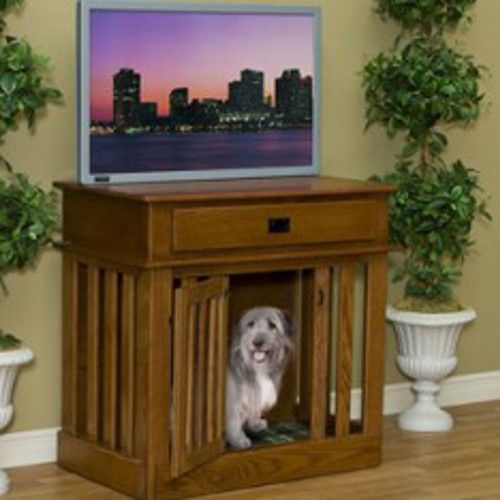 A Home Your Dog Wood Love! Wood Dog Crate and Wooden Pet Furniture: Dogs Beds, Crates Entertainment, Dogs Crates, Dogs Stuff, Dog Crates, Tv Stands, Diy Pet, Pet Supplies, Entertainment Center