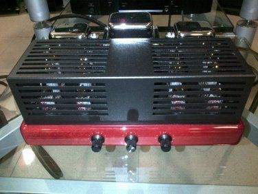 SYNTHESIS ENSEMBLE INTIGRATED TUBE AMPLIFIER, DEMO UNIT RED WOOD LAQUER FINISH. LAST UNIT, LAST PRICE!