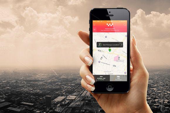 Taxi App Template by Ionut Zamfir on Creative Market