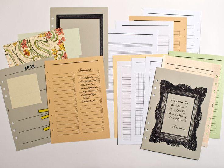 DIN A5 - DIY - A5 Filofax Kalender - PDF Download  - ein Designerstück von mydiary bei DaWanda