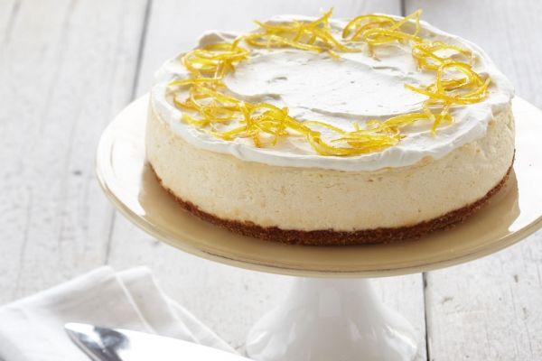 Lightened-Up Lemon Drop Cheesecake