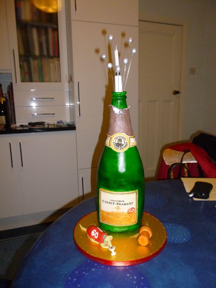 Pat's champagne bottle
