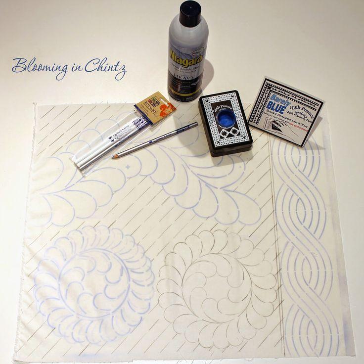Marking a Quilt Top  bloominginchintz.blogspot.com