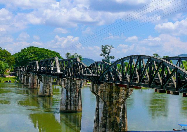 The Famous Bridge On The River Kwai,