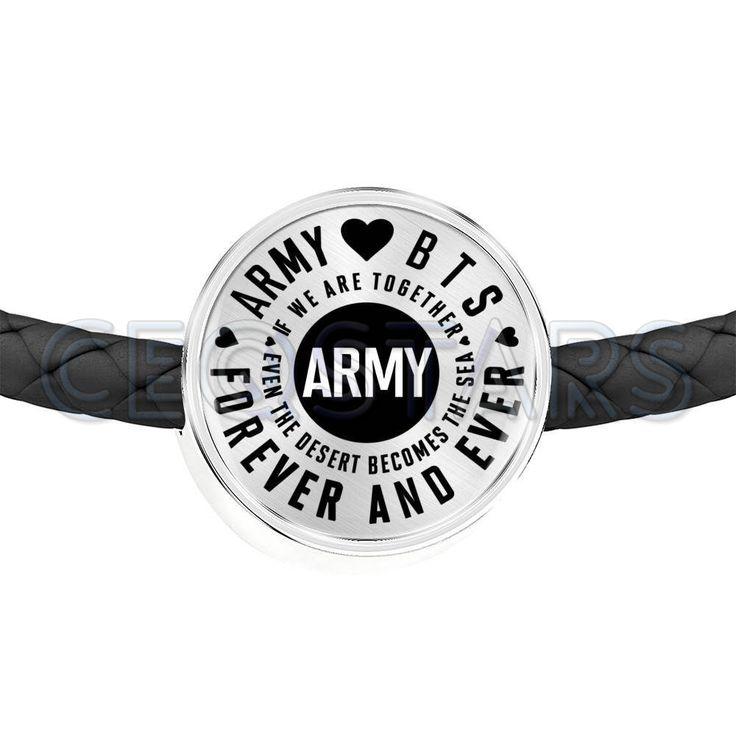 A.R.M.Y Love BTS für immer und immer (ARMY) Version – doppelt geflochtenes Leder Charm …