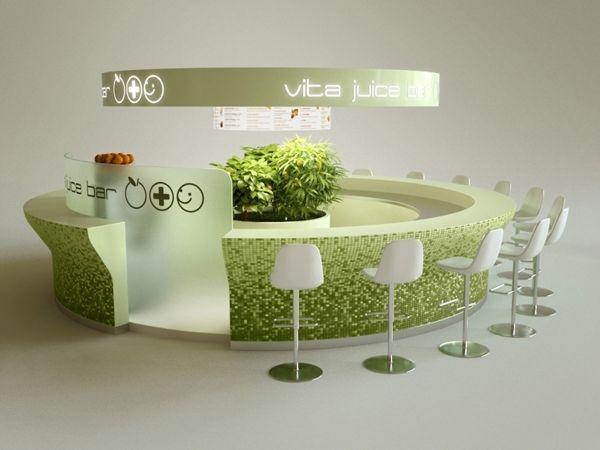 Vita Juice bar, Budapest, Hungary 2007-2010 by MYD-II interior design studio, via Behance