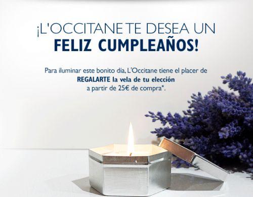 L'Occitane te regala una vela por tu cumpleaños