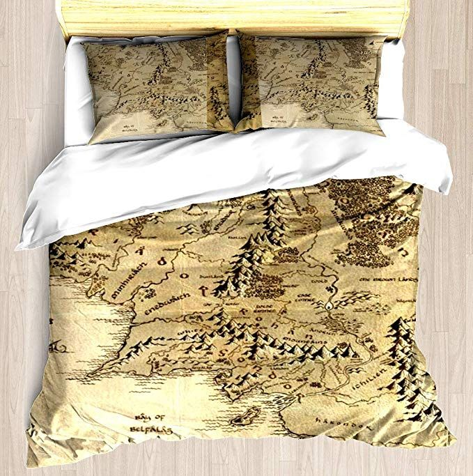 6041baca6f868 ... Ring (Map) Duvet Cover Set Unique Printed Exclusive Designed Pattern Comforter  Bedding Cover Pillow Shams 3 Piece Bed Duvet Cover Queen/Full| #tolkein ...