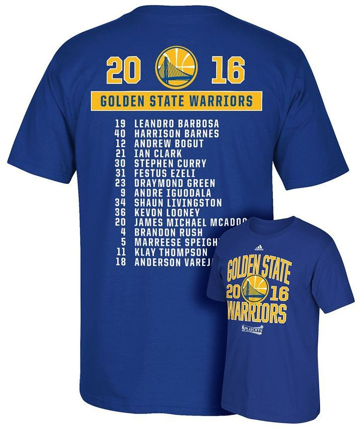 Men's adidas Golden State Warriors 2016 NBA Playoffs Roster Tee