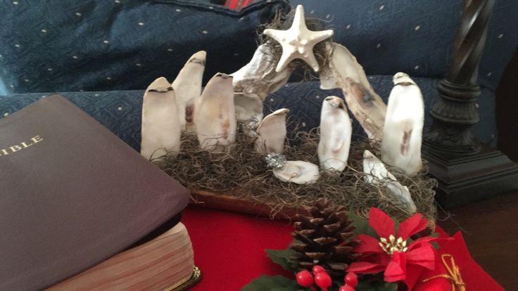 Oyster Shell Nativity by LatitudeAdjustment on Etsy