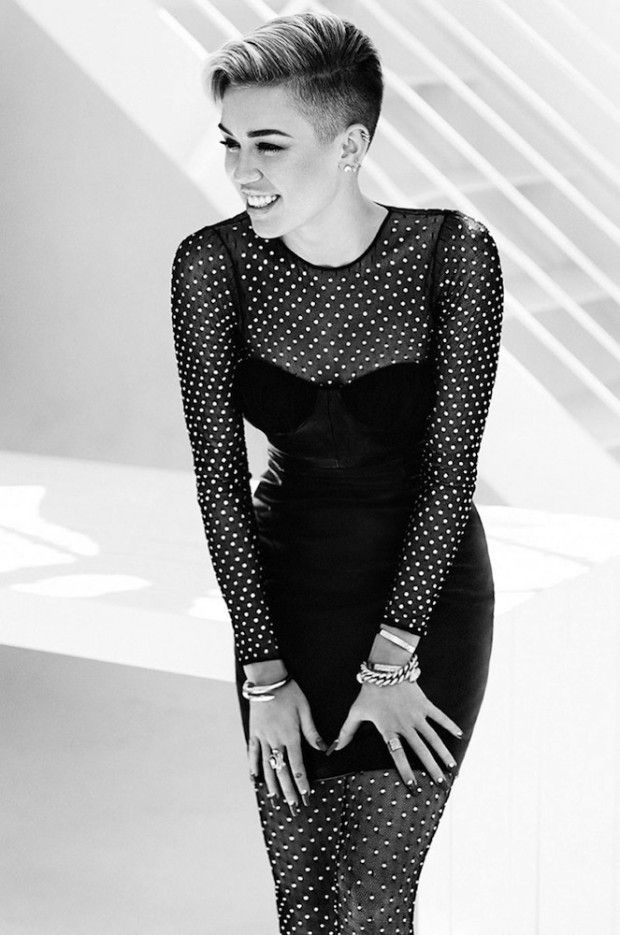 #MileyCyrus is Edgy in #Fashion Magazine's November 2013 Cover Shoot #photoshoot