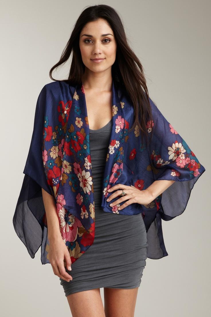 Silk kimono cardigan
