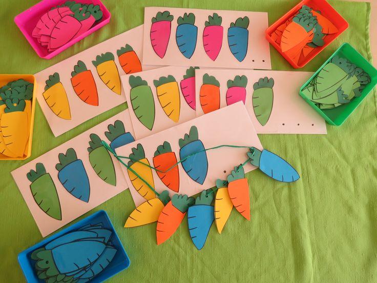 RUIMTE - We maken een ketting voor het wortelfeest en volgen daarvoor de opdrachtkaart.