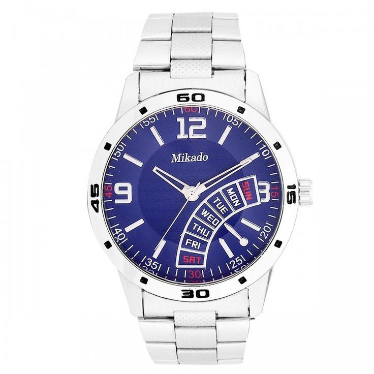 Mikado Blue Color Men's Watch in Blue Color