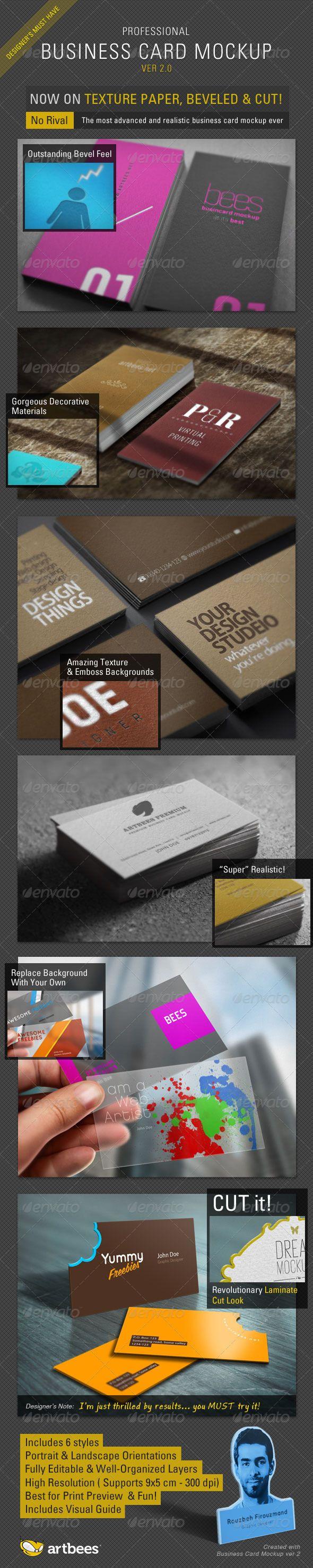 717 best Business Card Mockup images on Pinterest