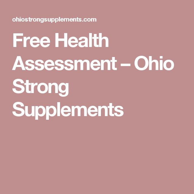 Free Health Assessment – Ohio Strong Supplements