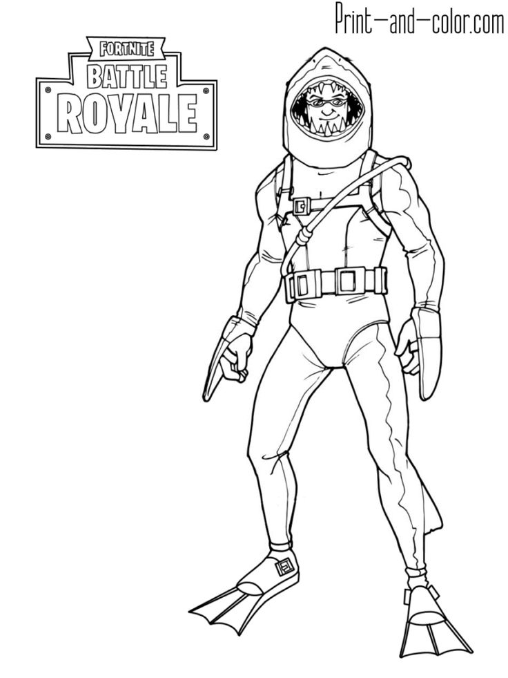 Fortnite battle royale coloring page Chomp Sr in 2019