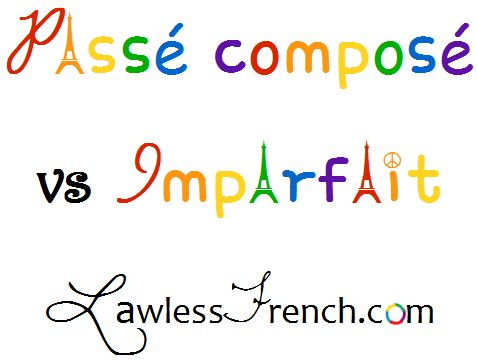 The passé composé and imparfait (imperfect) often work together, juxtaposed not only throughout stories, but even within individual sentences.